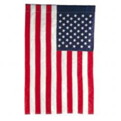 NYLON POLE HEM SLEEVE U.S, FLAG WITH EMBROIDERED STARS